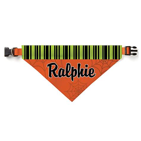 Custom Personalization Solutions Personalized Spooky Pooch Dog Bandana Collar Cover