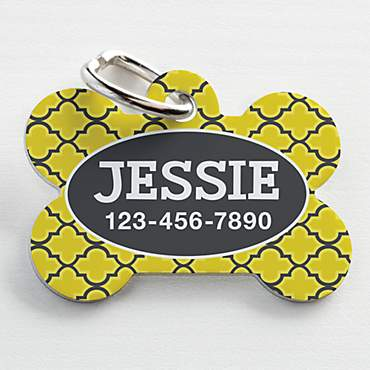 Custom Personalization Solutions Personalized Pet Tag Yellow