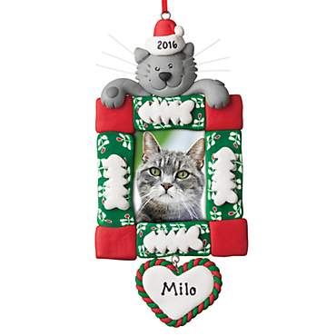 Custom Personalization Solutions Personalized Cat Frame Ornament