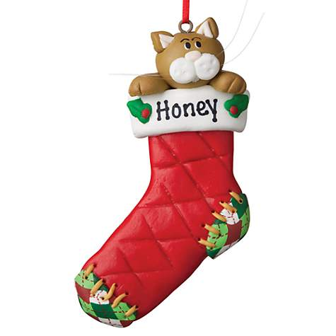 Custom Personalization Solutions Personalized Cat Stocking Ornament