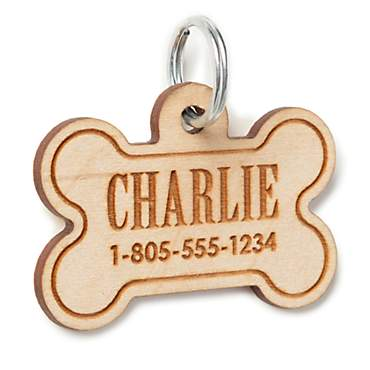 Custom Personalization Solutions Personalized Wood Pet Tag