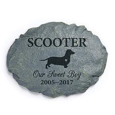 Custom Personalization Solutions Personalized Dog Memorial Garden Stone