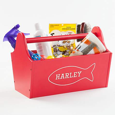 ba2750ba6f1b Custom Personalization Solutions Personalized Sweet Cat Storage Caddy Red |  Petco