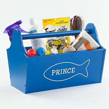 Custom Personalization Solutions Personalized Sweet Cat Storage Caddy Blue