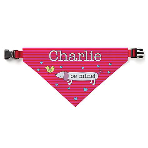 Custom Personalization Solutions Be Mine Personalized Dog Bandana Collar Cover