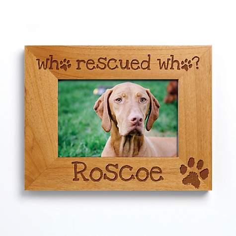 Custom Personalization Solutions Who Rescued Who Personalized Frame