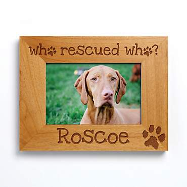 Custom Personalization Solutions Who Rescued Who Personalized Frame with Paw Print