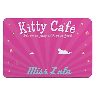 Custom Personalization Solutions Personalized Kitty Cafe Meal Mat Pink