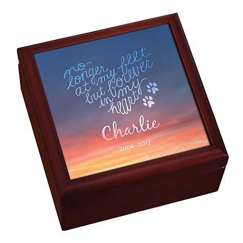 Custom Personalization Solutions Personalized Forever In My Heart Pet Keepsake Box