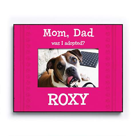 Custom Personalization Solutions Was I Adopted Personalized Dog Frame Pink