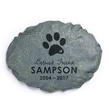 Custom Personalization Solutions Beloved Friend Personalized Dog Memorial Garden Stone