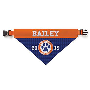 Custom Personalization Solutions Personalized Bark University Dog Bandana Collar Cover
