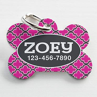 Custom Personalization Solutions Personalized Pet Tag Pink