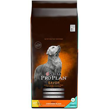 Purina Pro Plan Savor Shredded Blend Chicken & Rice Formula With Probiotics Dry Dog Food