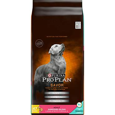 Pro Plan Savor Shredded Blend Lamb and Rice Formula Adult Dry Dog Food