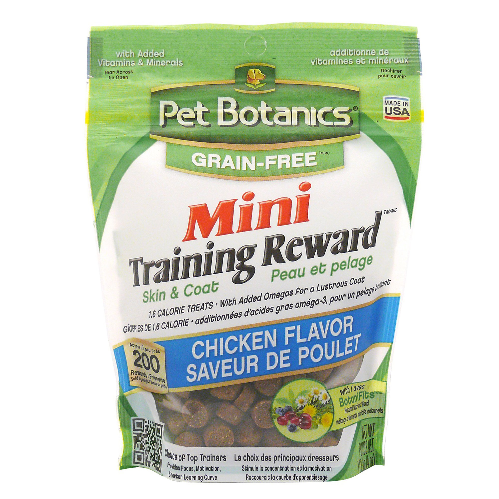 Image of Pet Botanics Grain Free Mini Training Reward Chicken Flavor Dog Treats, 4 oz. bag, 200 count