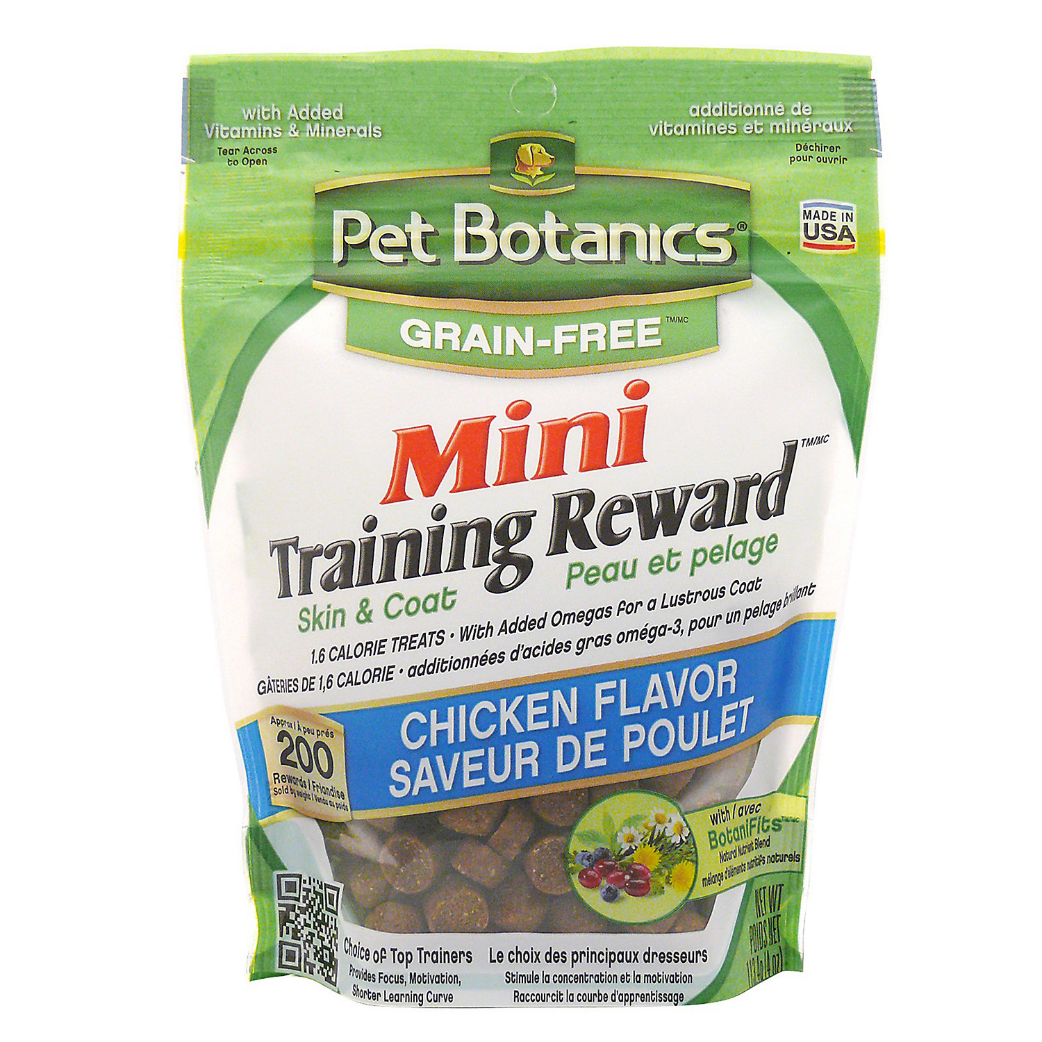 Image of Pet Botanics Grain Free Mini Training Reward Chicken Flavor Dog Treats