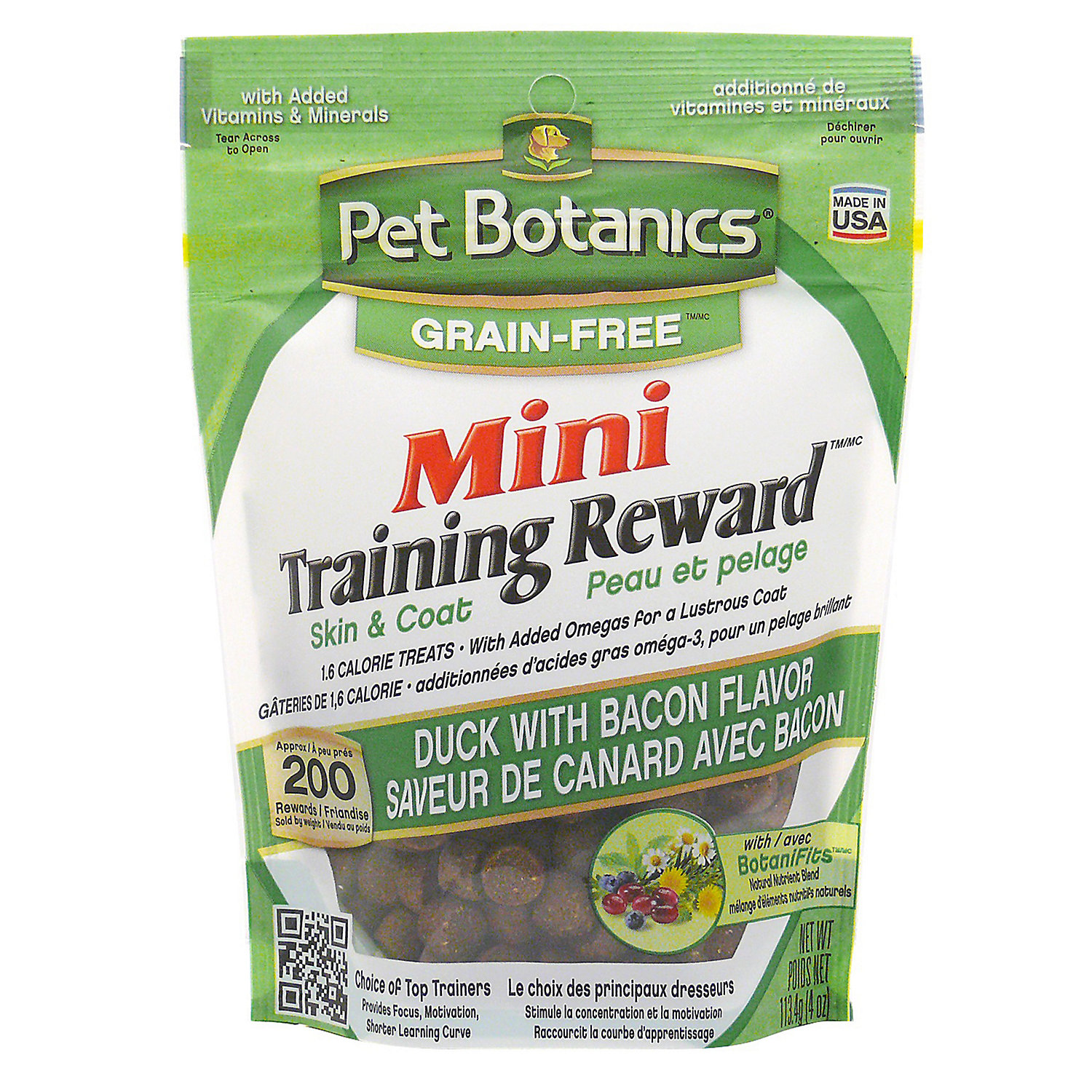 Image of Pet Botanics Grain Free Mini Training Reward Duck & Bacon Flavor Dog Treats