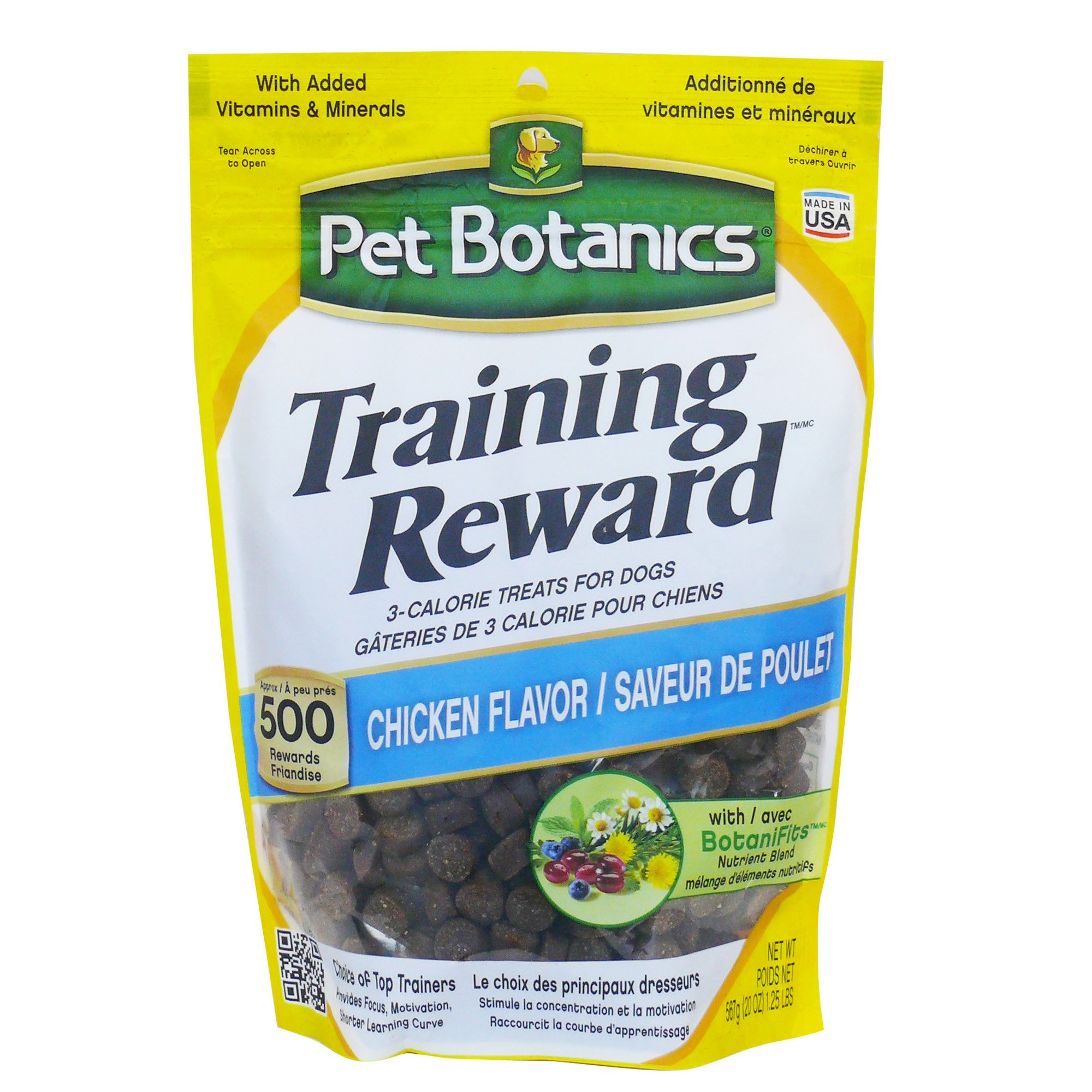 Image of Pet Botanics Training Reward Chicken Flavor Dog Treats, 20 oz. bag, 500 count