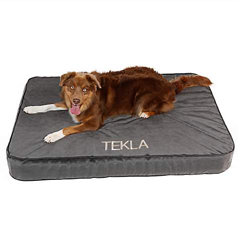 Doctors Foster + Smith Personalized Super Deluxe Memory Foam Charcoal Dog Beds