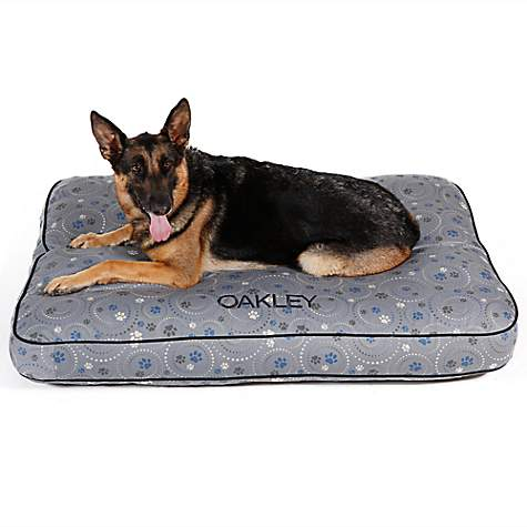 Doctors Foster + Smith Personalized Ultimate Classic Gray Galaxy Paw Dog Beds