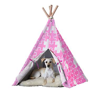 Merry Products Pet Teepee Pink Puzzle