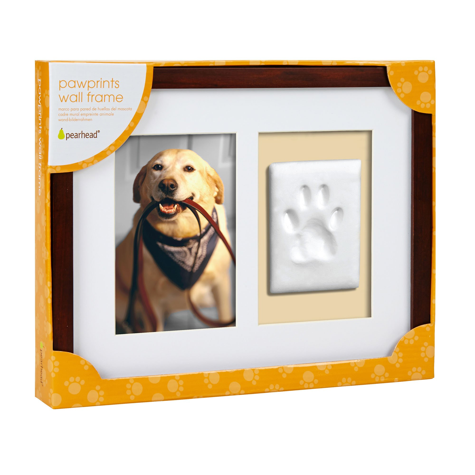Pearhead pawprints wall picture frame and impression kit for dogs pearhead pawprints wall picture frame and impression kit for dogs or cats petco jeuxipadfo Images