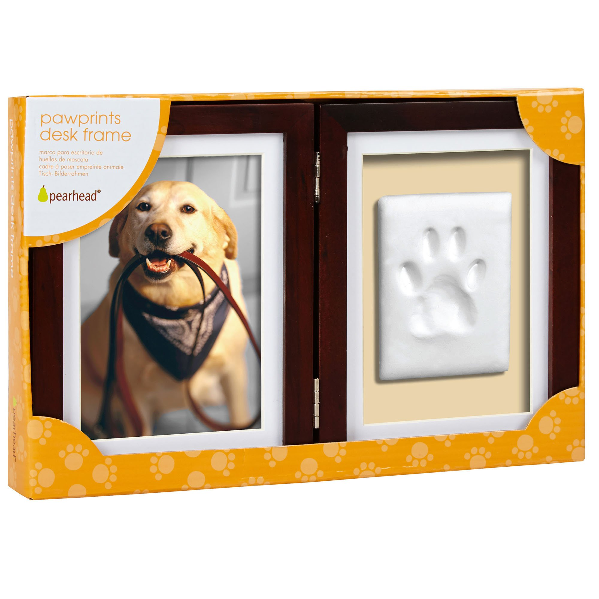 Pearhead pawprints desk picture frame and impression kit for dogs pearhead pawprints desk picture frame and impression kit for dogs or cats petco jeuxipadfo Images