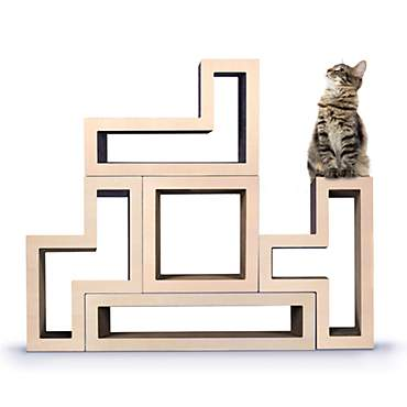 Katris Modular Cat Tree Maple Wood Collection