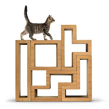Katris Modular Cat Tree Teak Wood Collection