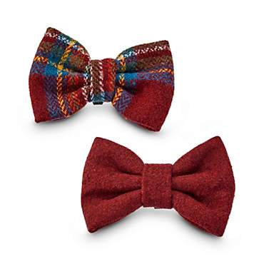 Heritage Pets Plaid and Felt Dog Bowtie Set