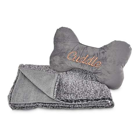 Modern Luxe Cuddle Dog Throw and Pillow Set