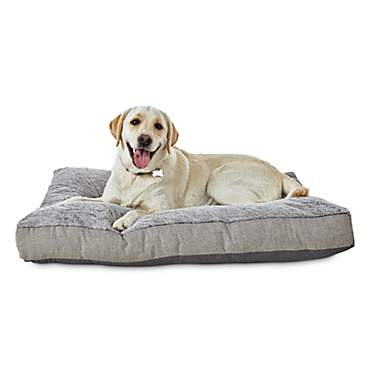 Modern Luxe Grey Posh Plush Pet Bed