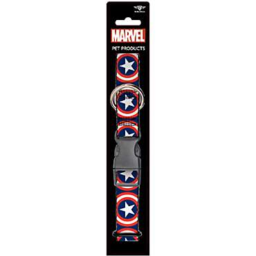 Buckledown Dog Collar Captain America