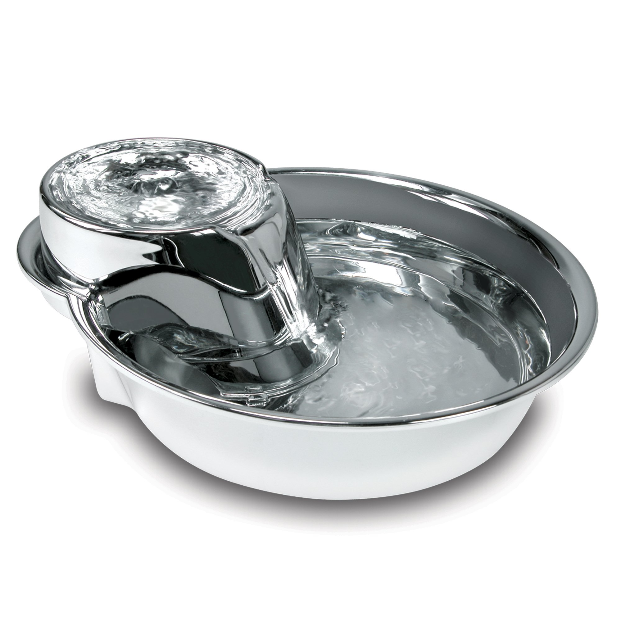 Image of Pioneer Pet Big Max Stainless Steel Pet Fountain for Dog, Large, Silver