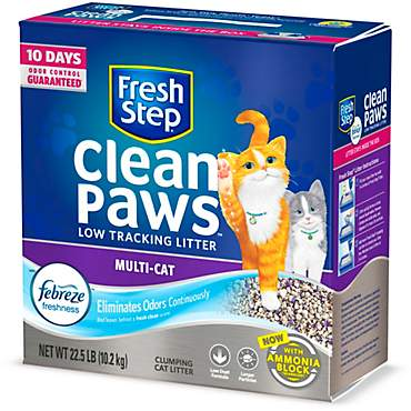 Fresh Step Clean Paws with the Power of Febreze Clumping Multi-Cat Litter