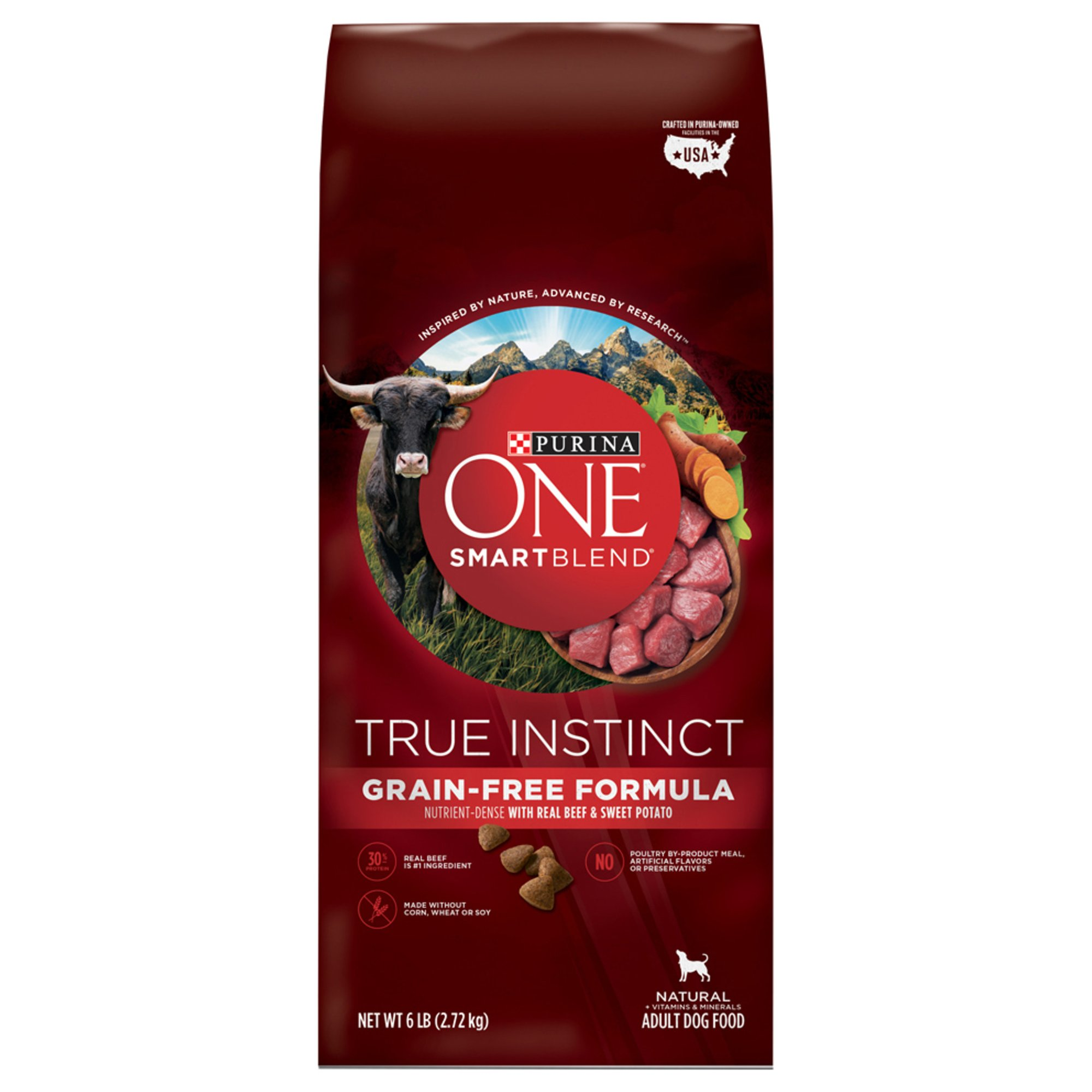 Purina ONE True Instinct Natural Grain Free Formula with Real Beef