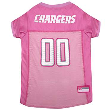 Pets First Los Angeles Chargers Pink Jersey
