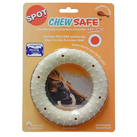 Spot Chewsafe Red Alert Nylon Chew Ring Dog Toys