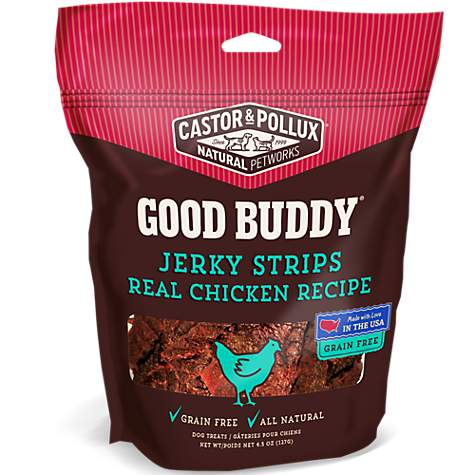 Castor & Pollux Jerky Strips Real Chicken Recipe Dog Treats