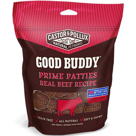 Castor & Pollux Prime Patties Real Beef Recipe Dog Treats