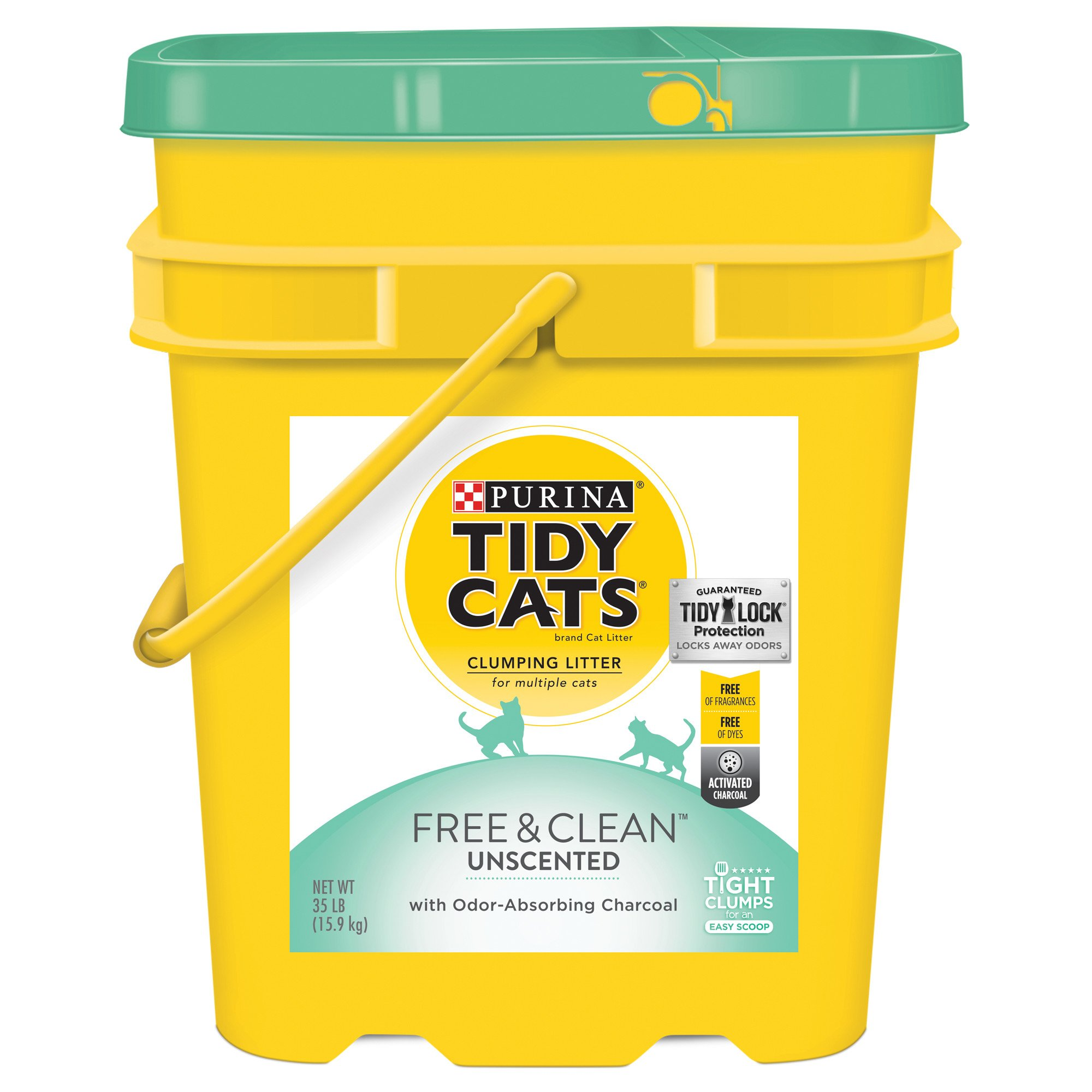 tidy cat litter purina tidy cats free amp clean with tidylock protection 10647