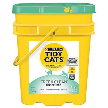 Purina Tidy Cats Free & Clean with TidyLock Protection Unscented Clumping Cat Litter