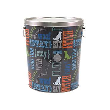 Paw Prints Tin Food Bin Wordplay