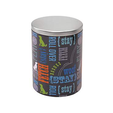 Paw Prints Tin Treat Container Wordplay