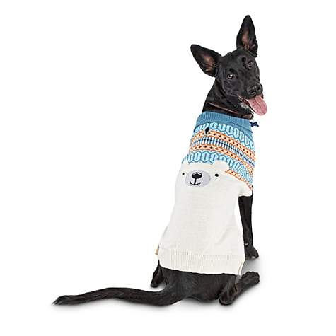 Bond & Co. Fair Isle and Intarsia Polar Bear Dog Sweater