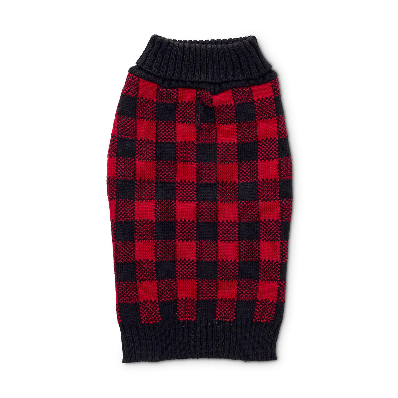 Bond & Co. Buffalo Check Knit Dog Sweater