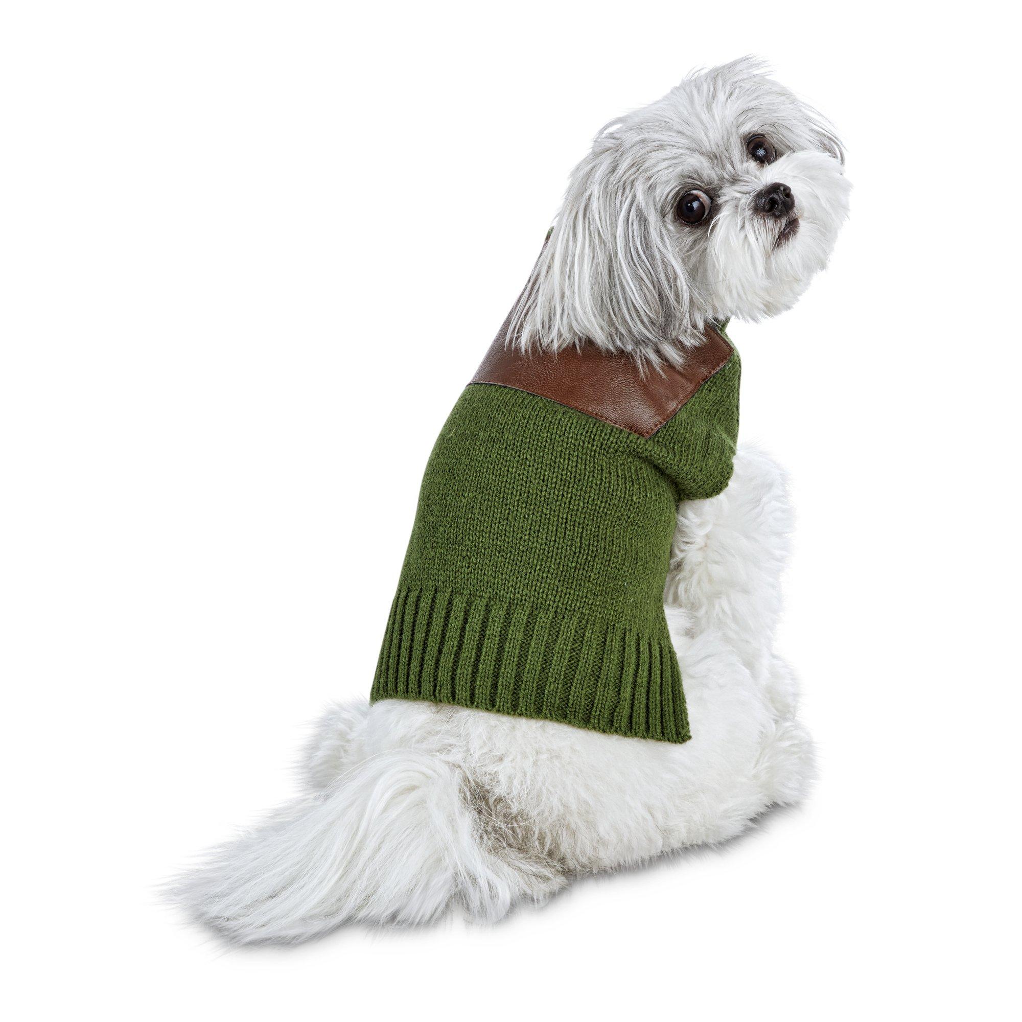 low priced 601b3 96bae Bond & Co. Emerald Green Dog Sweater, Medium | Petco