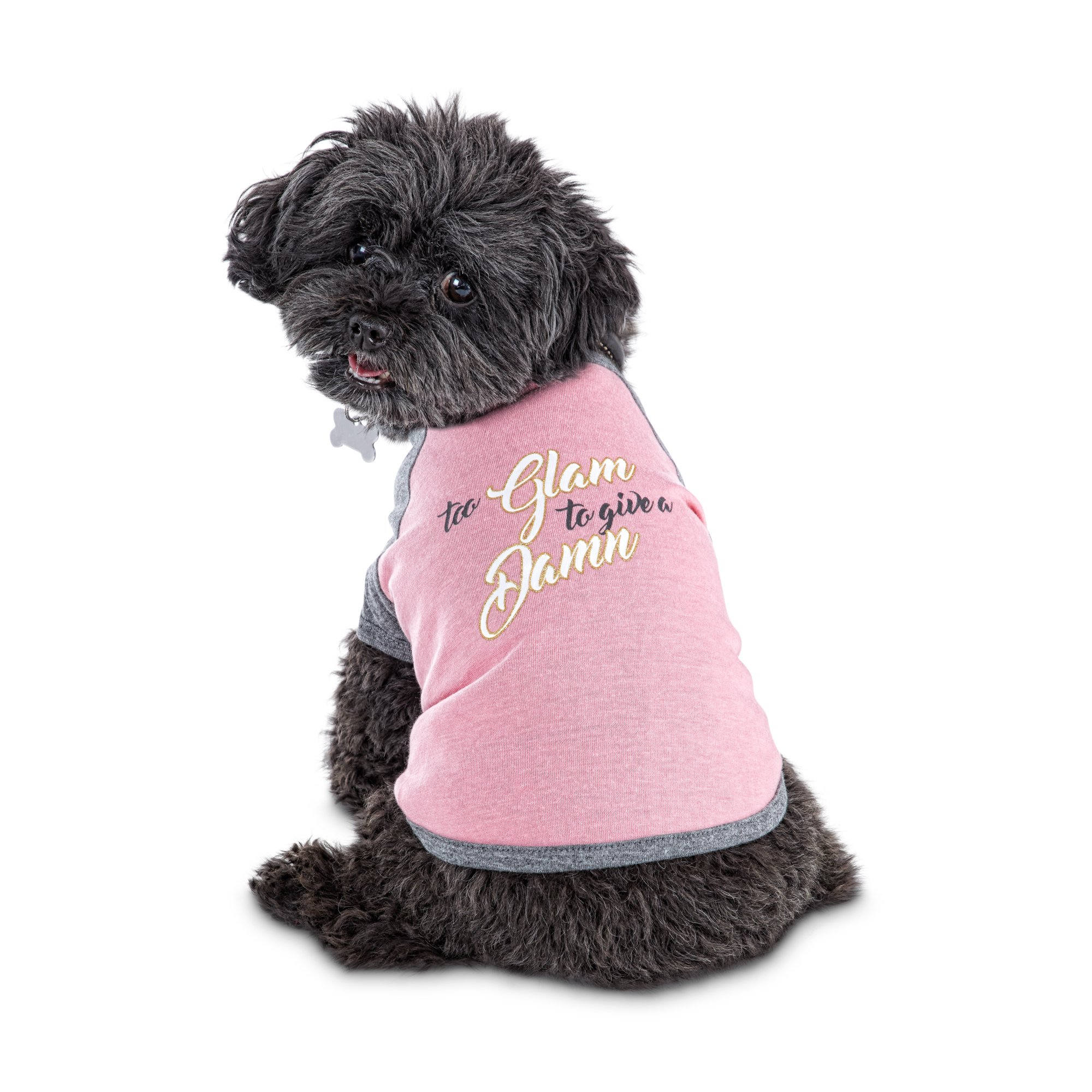 classic fit 22f5e c2bdd Bond & Co. Too Glam to Give A Damn Graphic Dog T-Shirt, XX-Small | Petco