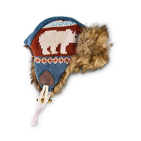 Bond Co Polar Bear Trapper Dog Hat Petco